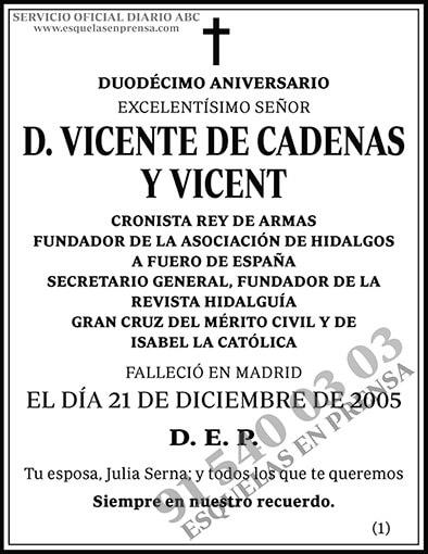 Vicente de Cadenas y Vicent